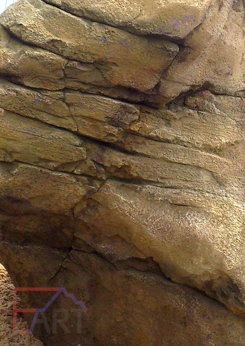 Дикий камень из бетона в МО. Фрагмент