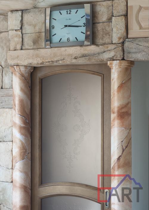 Каменная кладка и колонны из архитектурного бетона