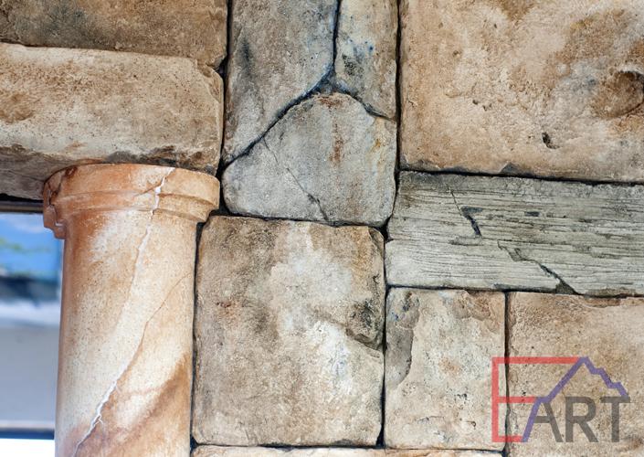 Кладка из бетона. фрагмент