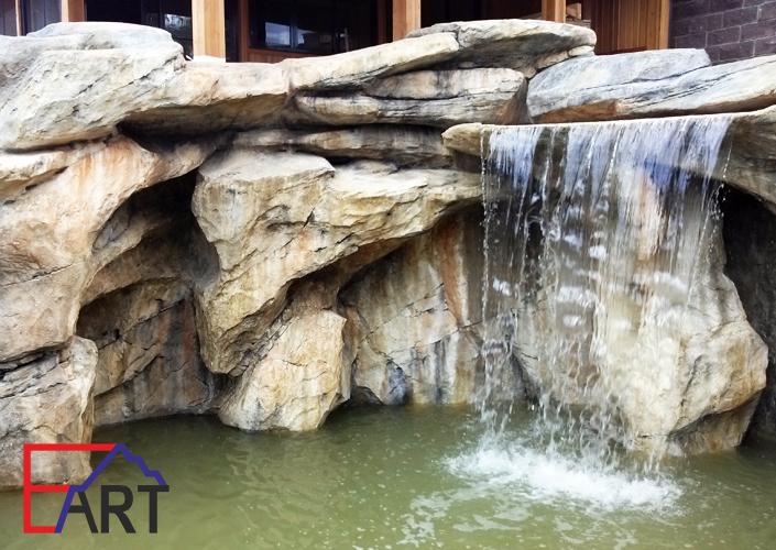 Водопад из архитектурного бетона