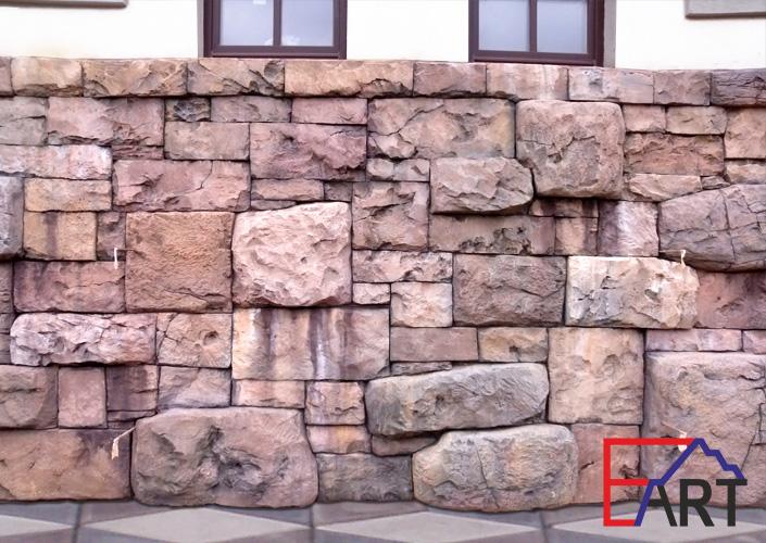 Отделка цоколя архитектурным бетоном