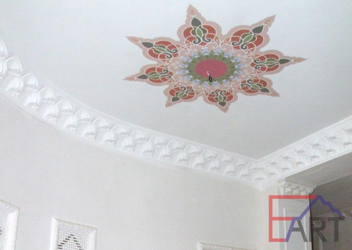 Роспись потолка в интерьере