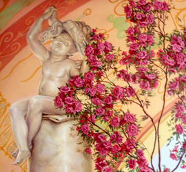 Роспись стен, имитация мрамора
