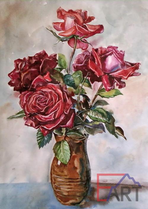 Розы. Акварель.