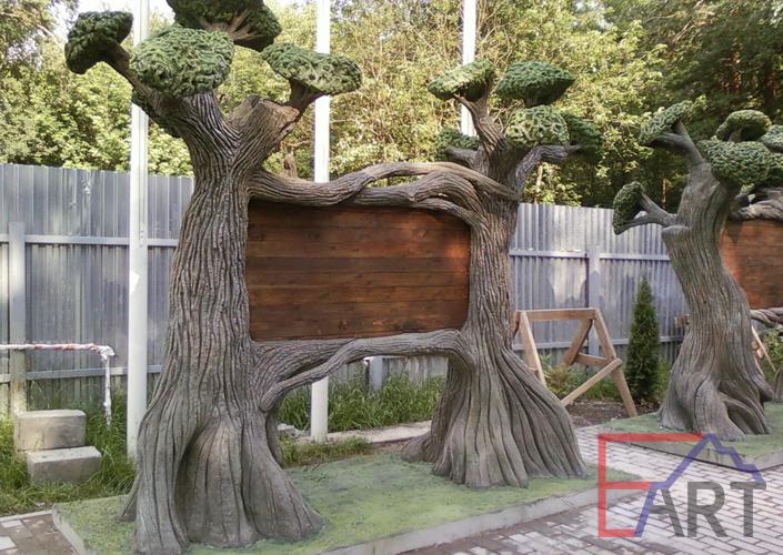 Дерево из архитектурного бетона. Скульптура
