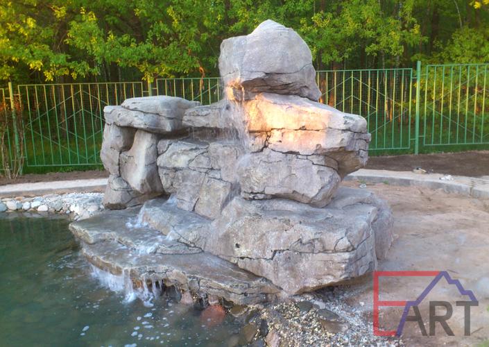 Водопад из бетона (Московская область)