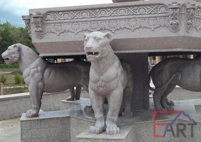 Фрагмент росписи фонтана под травертин