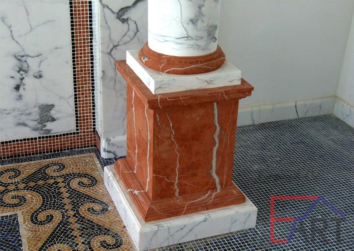 Роспись под мрамор на колонне